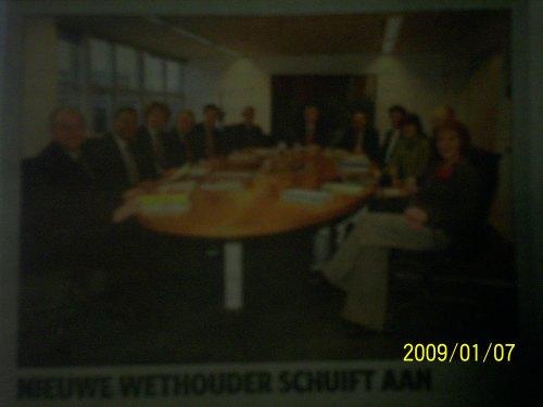 Het Haagse college bijeen in de nieuwe bezetting