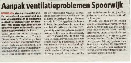AD 07.09.2010 Ventilatieproblemen Spoorwijk
