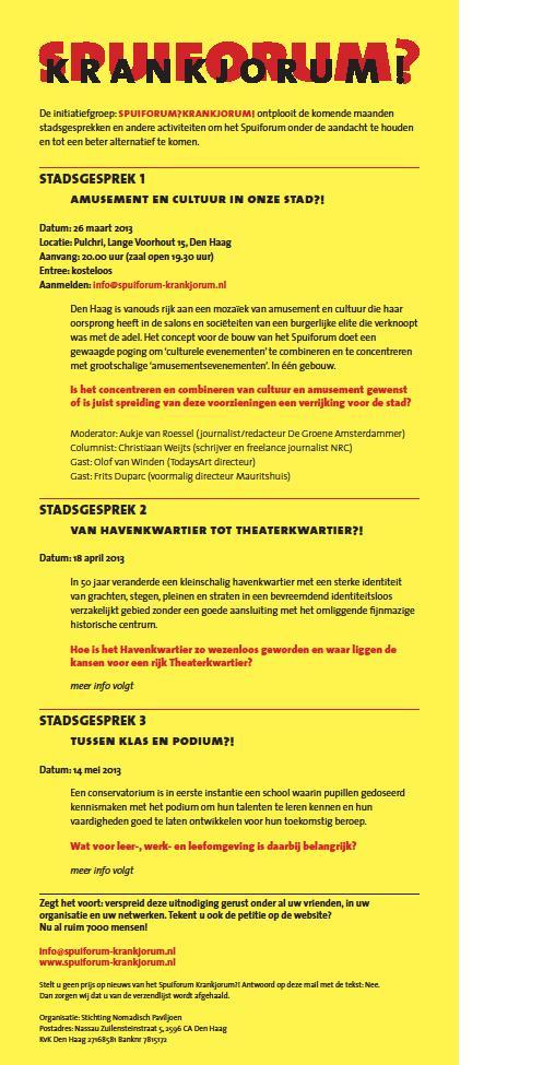Stadsgesprek Spuiforum Krankjorum